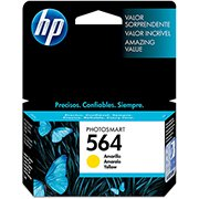 Cartucho HP 564 Amarelo Original (CB320WL) Para HP Photosmart C309g, B210a, C5324, Deskjet 3526, Officejet 4622, 4620 CX 1 UN