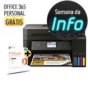Multifuncional tanque de tinta Ecotank L6171 Epson + Office 365 Personal Microsoft (Grátis) CX 1 CX