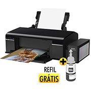 Impressora Tanque de Tinta Ecotank L805 + Grátis: Refil Preto Epson CX 1 UN