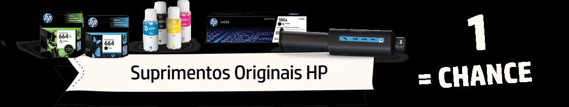 Suprimentos Originais HP = 1 chance