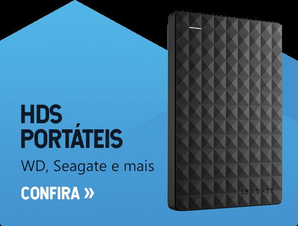 HDs Portáteis - WD, Seagate e mais