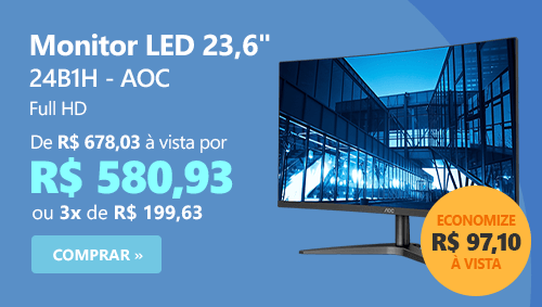 "Monitor LED 23,6"" widescreen 24B1H AOC"