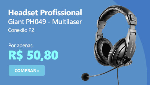 Headset P2 Profissional Giant PH049 Multilaser