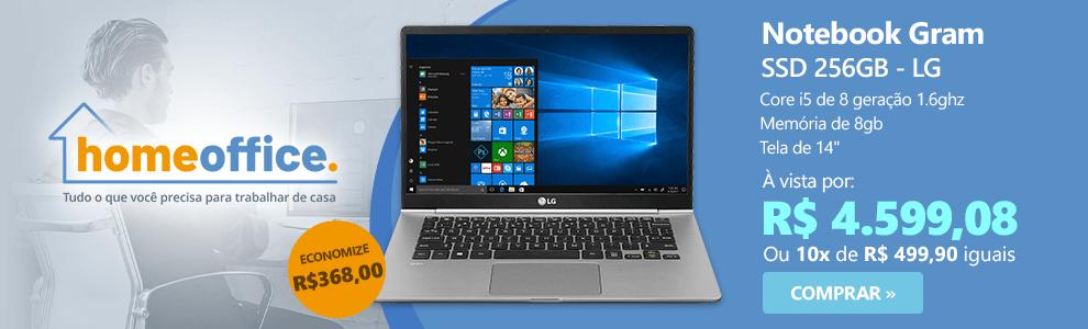 Notebook Gram 14Z980, Processador Core i5 (8 ger) de 1.6ghz, Memória de 8gb, 256gb SSD, Tela de 14 - Lg CX 1 UN