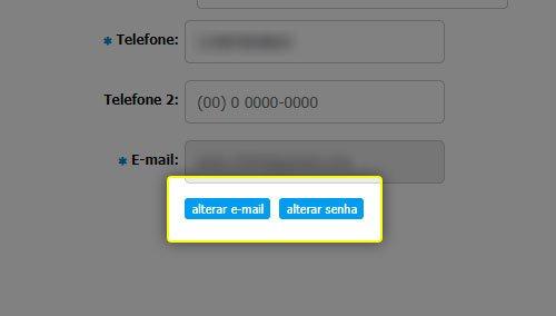 Botão de acesso ao acesso do cliente
