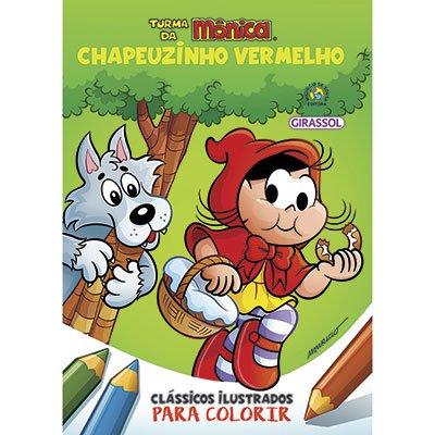 Livro para colorir infantil Turma da Mônica Chapeuzinho Catavento PT 1 UN
