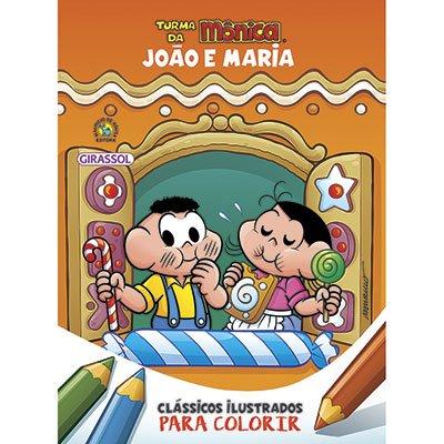Livro para colorir infantil Turma da Mônica João e Maria Catavento PT 1 UN