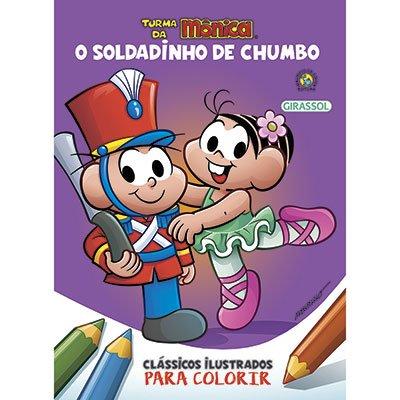Livro para colorir infantil Turma da Mônica Soldadinho Catavento PT 1 UN