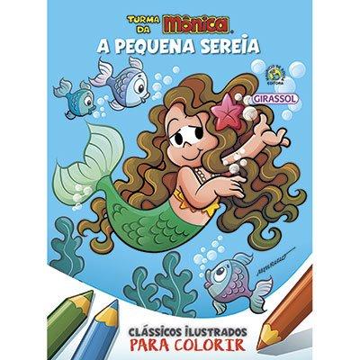 Livro para colorir infantil Turma da Mônica Pequena Sereia Catavento PT 1 UN