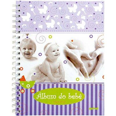 Álbum de fotos do bebê menina 200x275mm 48 fls Spiral PT 1 UN