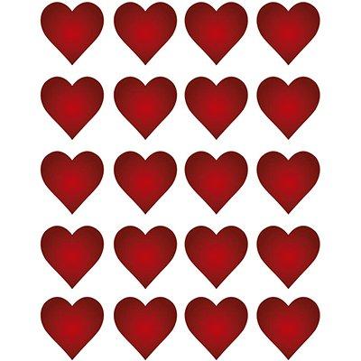 Adesivo stick coração vermelho 947829 Pimaco PT 100 UN
