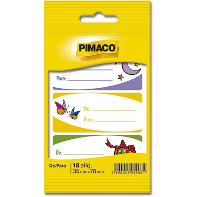 Tag para presente De/ Para 886618 Pimaco PT 18 UN