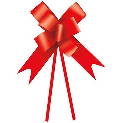 Laço para presente liso vermelho 30mm 1230085 Cromus PT 10 UN