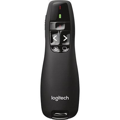 Apresentador sem fio Logitech R400 com Laser Pointer Vermelho, Conexão USB e Pilha Inclusa BT 1 UN
