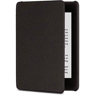 Capa p/ Kindle Novo Paperwhite couro preto Kindle PT 1 UN