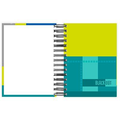 Agenda diária Black Out 2022, 176 folhas, Azul, 2263434, Spiral  - PT 1 UN