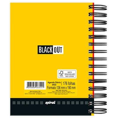 Agenda diária Black Out 2022, 176 folhas, Vermelha, 2263441, Spiral - PT 1 UN