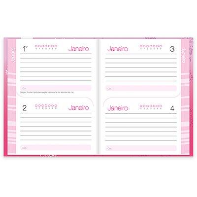 Agenda escolar Barbie rosa Spiral PT 1 UN