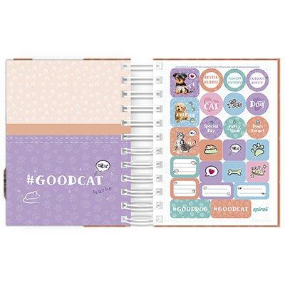 Agenda diária mini My Pet gato 2021 Spiral PT 1 UN