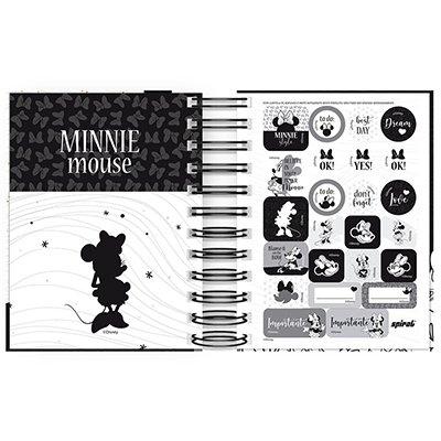 Agenda diária mini Mickey Mouse 2021 Spiral PT 1 UN
