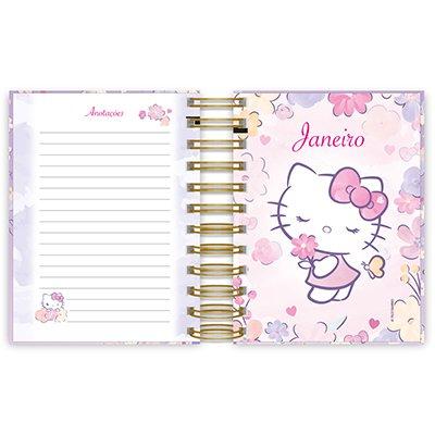 Agenda diária mini Hello Kitty 2021 Spiral PT 1 UN