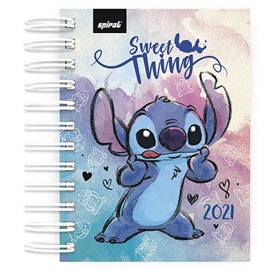 Agenda diária mini Stitch 2021 Spiral PT 1 UN
