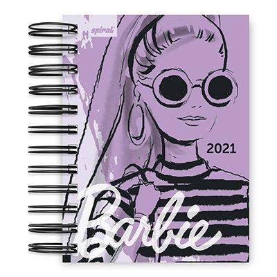 Agenda diária mini Barbie 2021 Spiral PT 1 UN