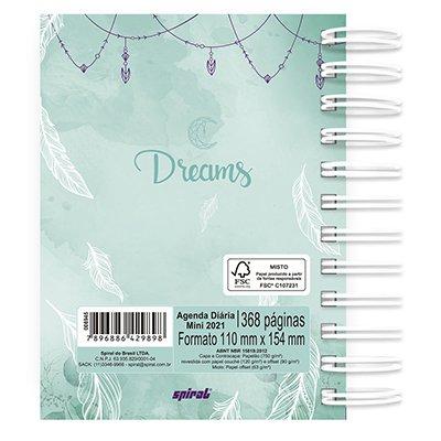 Agenda diária mini Dreams 2021 Spiral PT 1 UN