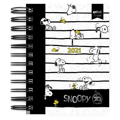 Agenda diária mini Snoopy 2021 Spiral PT 1 UN