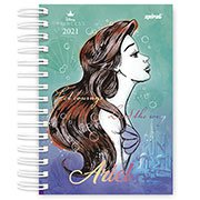 Agenda diária Princesas Ariel 2021 Spiral PT 1 UN