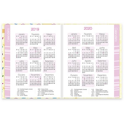 Agenda escolar Corujinhas 20148 Spiral Cor PT 1 UN