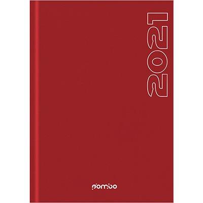 Agenda diária Matra vermelha 2021 B0804-568K1 Pombo PT 1 UN