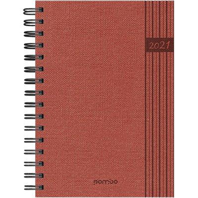 Agenda diária Wire-o Nature vermelho 2021 B68K2-183K1 Pombo PT 1 UN
