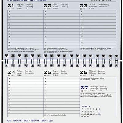Agenda de bolso Wire-o Matra preta 2021 B6704-036K1 Pombo PT 1 UN