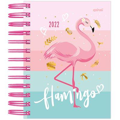 Agenda diária mini Flamingo 2022 2269405 Spiral Ten PT 1 UN