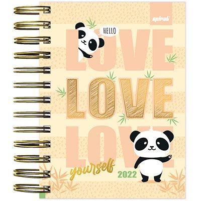 Agenda diária mini Panda 2022 2267043 Spiral Ten PT 1 UN