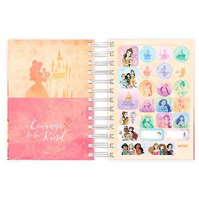 Agenda diária mini Princesas 2022 2269313 Spiral Pn PT 1 UN