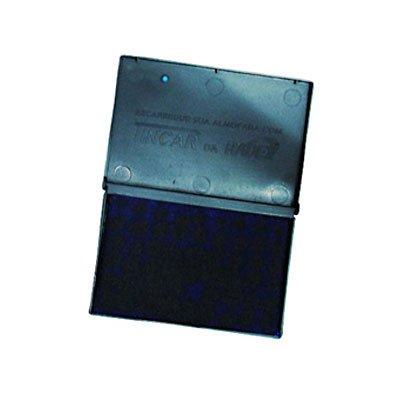 Almofada carimbo N.2 5,2x9,4cm asuper radex azul Tonbras Indústria E CX 1 UN
