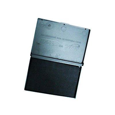 Almofada carimbo N.2 5,2x9,4cm asuper radex preta Tonbras Indústria E CX 1 UN