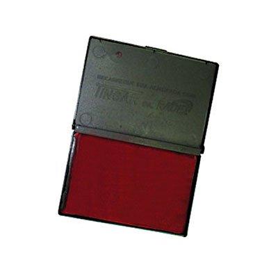 Almofada carimbo N.2 5,2x9,4cm asuper radex vermelha Tonbras Indústria E CX 1 UN