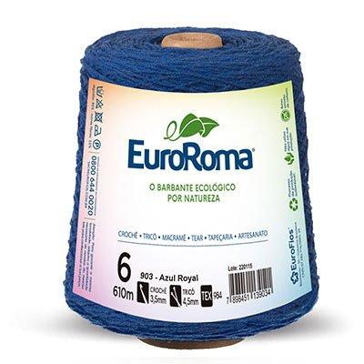 Barbante 85% algodão c/610m azul royal 620903 Euroroma PT 1 UN