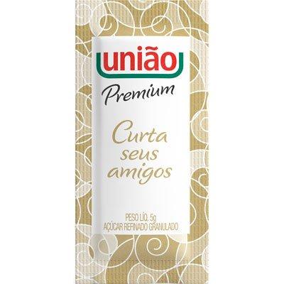 Açúcar refinado granulado em sachê 5gr União CX 400 UN