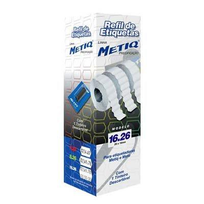 Etiquetas para aparelho etiquetador 16.26 com 9600 unidades Metiq PT 1 UN