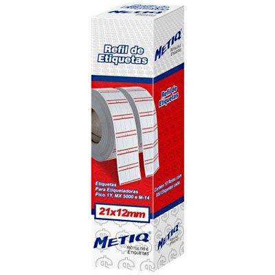 Etiquetas para aparelho etiquetador MX-5000/M-14 com 4250 unidades Metiq PT 1 UN