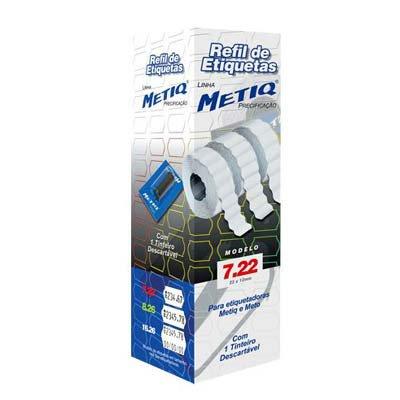 Etiquetas para aparelho etiquetador 7.22 com 15000 unidades Metiq PT 1 UN