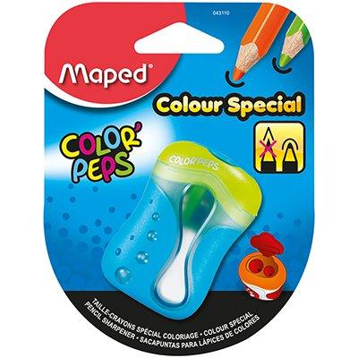 Apontador Color Peps, com depósito, 2 furos, cores sortidas, 043110, Maped BT 1 UN