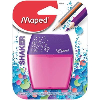 Apontador Shaker, com depósito, 2 furos, cores sortidas, 634755, Maped BT 1 UN