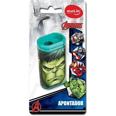 Apontador c/deposito Avengers sortido 22270 Molin BT 1 UN
