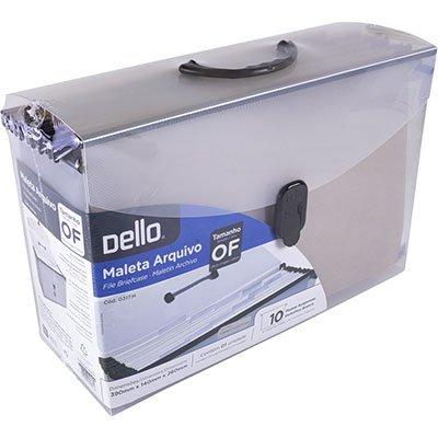 Arquivo maleta pp c/ 10 pastas suspensas (350grs) plas.cristal Dello PT 1 KT