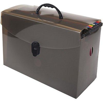 Arquivo maleta pp fumê c/10 pastas suspensas coloridas Dello PT 1 KT
